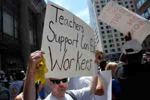 """MORE Members Support Con Ed Workers on Picket Line - """"Teachers Support ConEd Workers"""""""