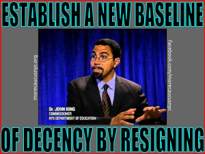 """establish a new baseline of decency by resigning"""