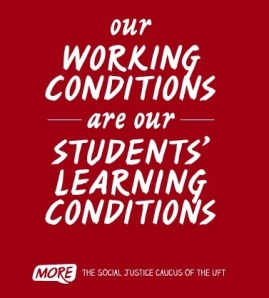 "alt=""our working conditions are our students' learning conditions"""