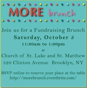 """MORE brunch join us for a Fundraising Brunch Saturday October 5"""