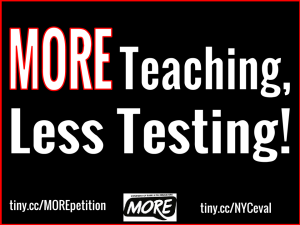 """MORE teaching, Less Testing!"""