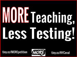 """MORE teaching, Less Testing!"""