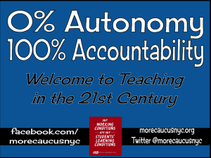 """0% autonomy, 100% accountability welcome to teaching in the 21st century"""
