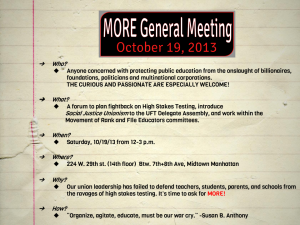 """MORE General Meeting October 19, 2013"""