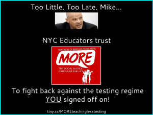 """Too Late, Mike. NYC educators trust MORE"""