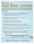 """More than a score: talk back to testing"""