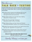 """""""More than a score: talk back to testing"""""""