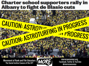 """Charter School supporters rally in Albany Caution: ASTROTURFING IN PROGRESS"""