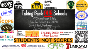 """Taking back OUR schools NYC metro march and rally"""