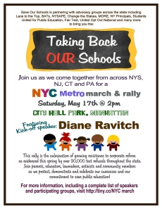 """""""Taking Back OUR Schools NYC MetroMarch and Rally"""""""