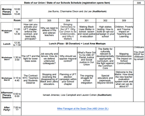 SOU Conference Schedule