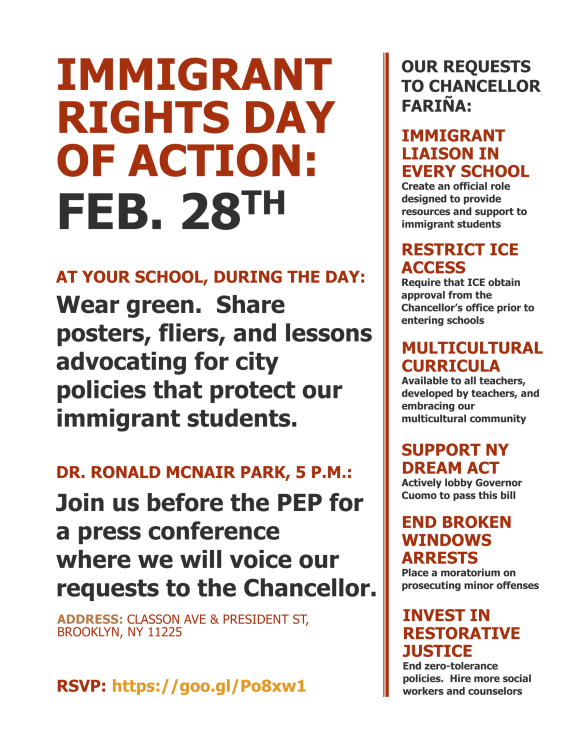 """Immigrant Rights Day of Action"""