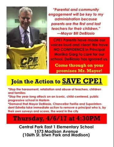 """April 5 Rally to Save CPE 1"""