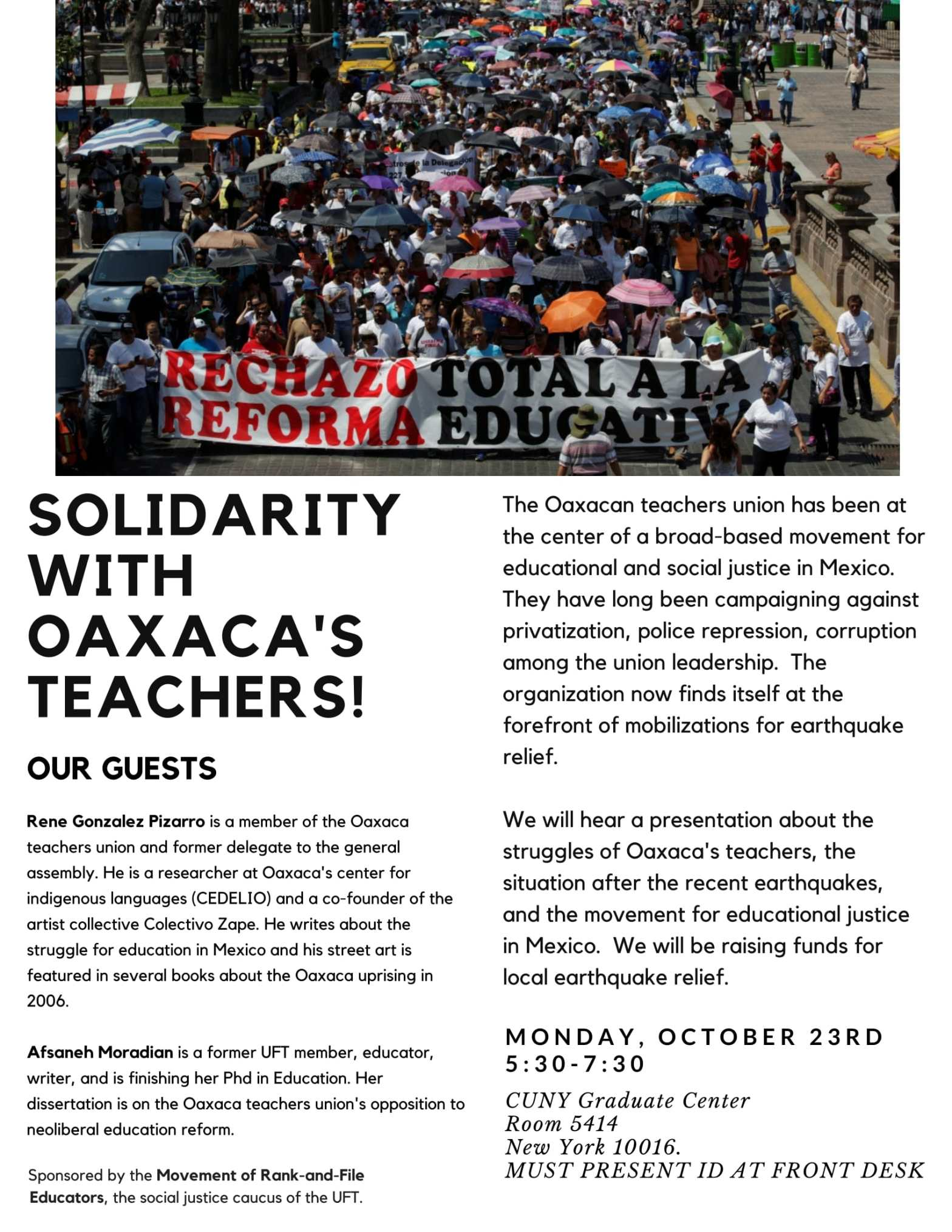 """MOREUFT Oaxaca Teachers"""