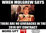 """When Mugrew says there are no givebacks in the 2019 UFT contract"""