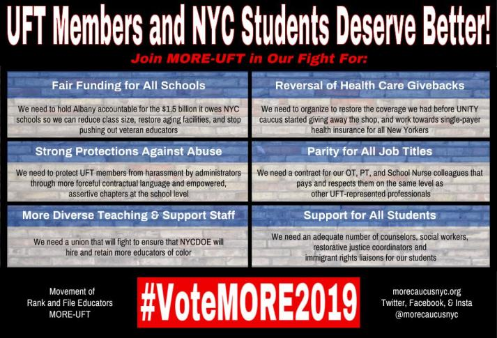 """UFT members and NYC students deserve better"""